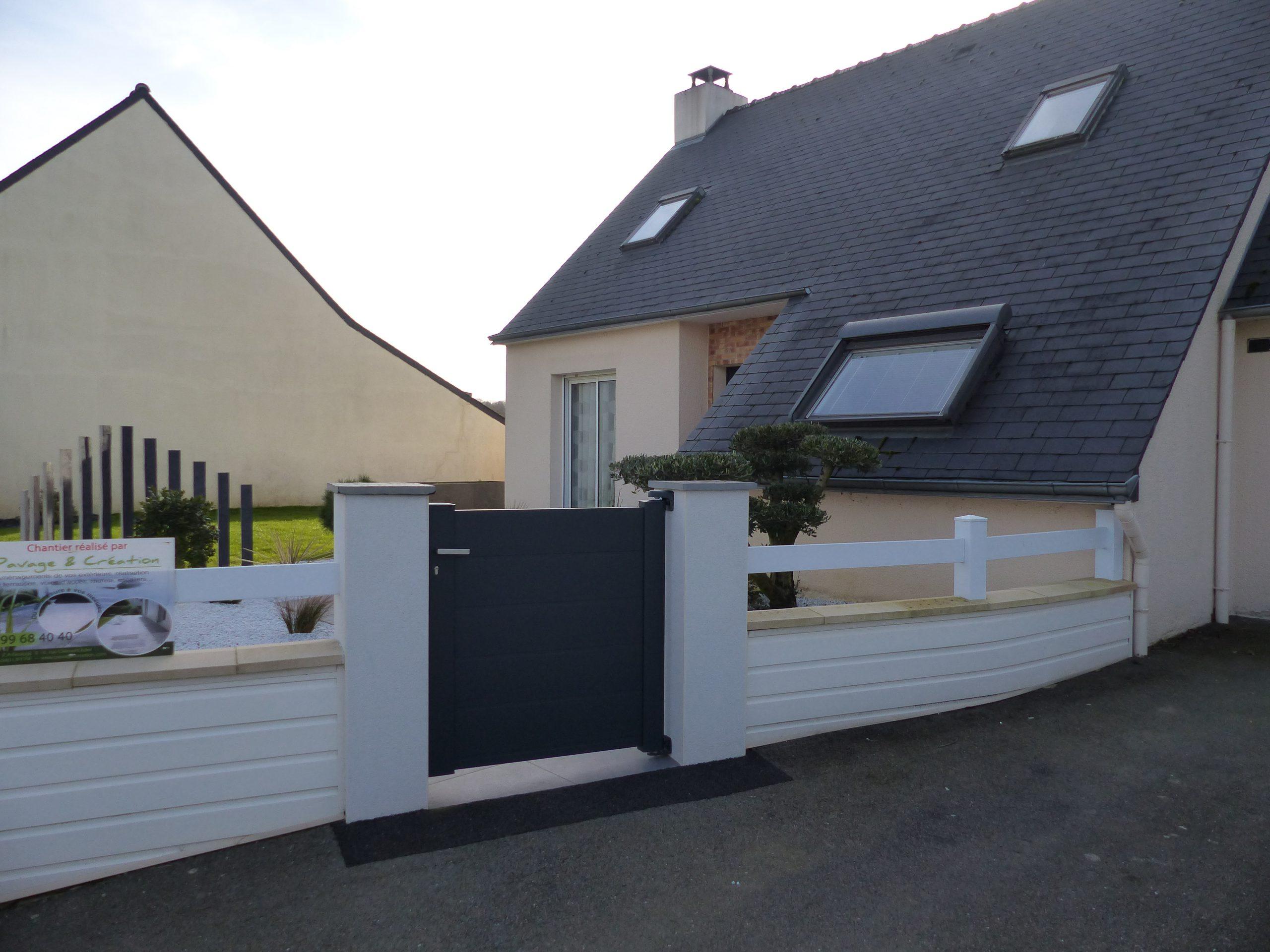 Clôture PVC et portail